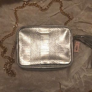 NWT Victoria's Secret Silver and Gold Chain Bag